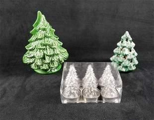 Ceramic Christmas Tree Napkin Stand Potpourri Holder