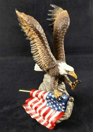 The Abbey Collection Ceramic Eagle And USA Flag