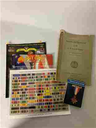 Lot, 2 Books, 2 Catalogs, 1 USAF Decoration Ribbons and