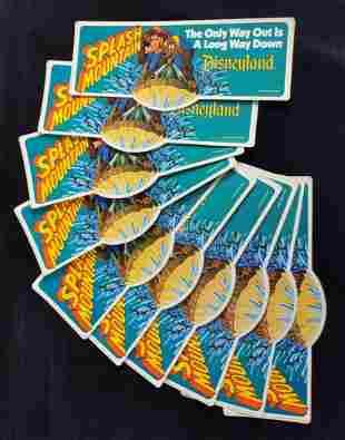 Vintage Disneyland Splash Mountain Bumper Stickers G