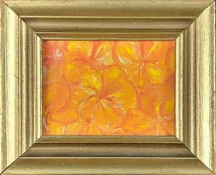 Mini Hand Painted Original Oil On Canvas Flowers