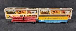 Vintage Bachmann HO Scale Freight Box Car And Flat Car