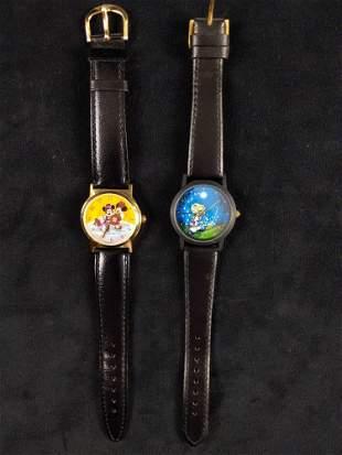 Vintage Disney Womens Wrist Watch Lot of 2