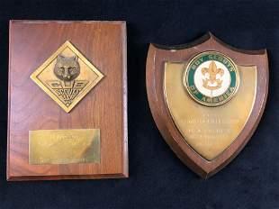 A Lot of 2 Vintage Boy Scouts Of America Cub BSA Troop
