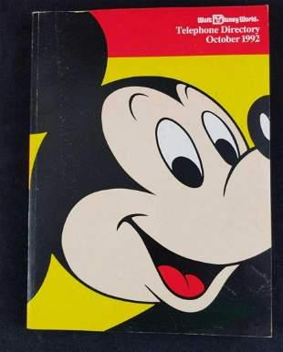 Walt Disney World Telephone Directory 1992