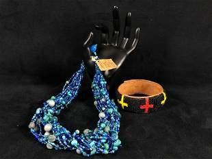 Vintage 15/130 Handmade KwaZulu Tribe By Weavers Dark