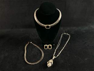 Vintage Silver Plated Necklaces & Earrings