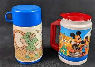 Disney Park Mug Hunchback Of Notre Dame Aladdin Thermos