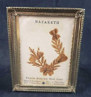 Framed Nazareth Flowers From The Holy Land