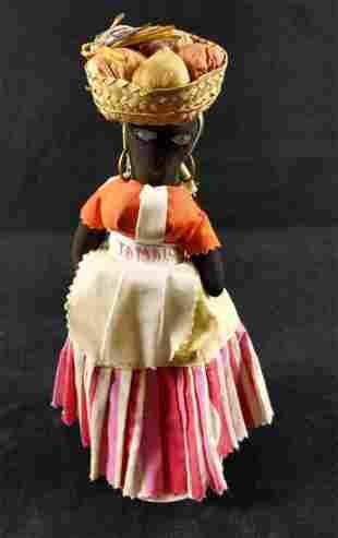 Jamaican Ethnic Folk Art Doll Handmade Souvenir