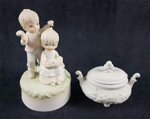 Lot of 2 Porcelain Small Items