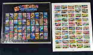 Wonders Of America And 50 States US Stamp Sheets