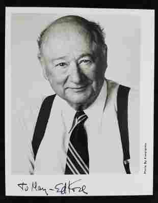 Autographed Photo of Ed Koch, NYC Mayor and People's