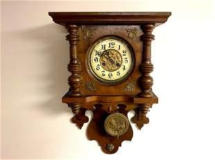 Antique Kocie Gong No 1 Mechanical Pendulum Wall Clock