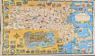 Massachusetts Travel Historic Vacationland Collectable