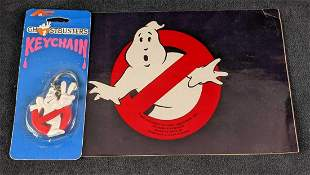 Vintage Ghostbusters Sticker And Keychain