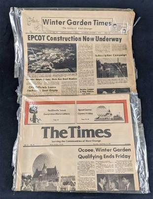 Vintage Disney Epcot Florida Newspapers