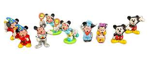 Vintage Disney Mickey And Minnie Mouse Figures