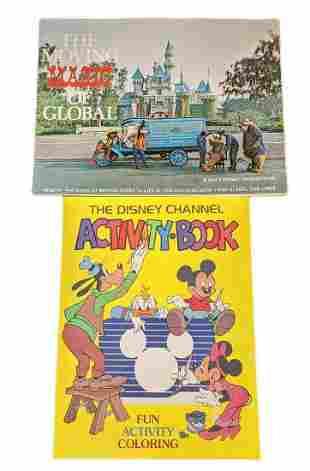 Two Vintage Disney Coloring Books Disney Channel
