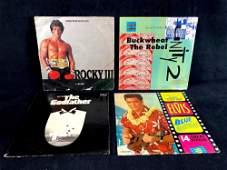 (4) Vinyl Records 1970's Era The Godfather, Rocky III,