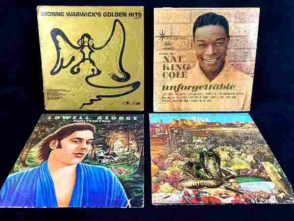 Four Vinyl Record 1970's Era Lowell George, Styx,