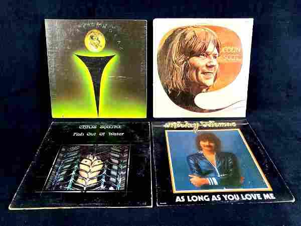 Four Vinyl Record 1970's Era Patrick Moraz, Colin