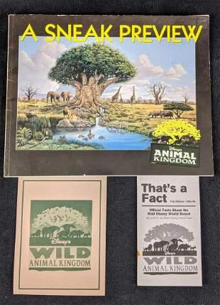 Disney's Animal Kingdom Informational Booklets