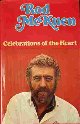 Autgraphed Rod McKuen Celebrations Of The Heart Poetry