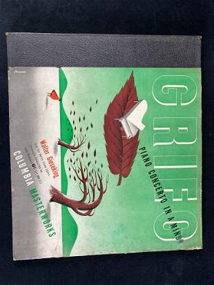 Vintage 1940's Record Piano Concerto in A Minor