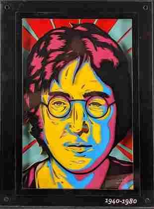 Gustavo Herrera John Lennon Imagine Original Colored