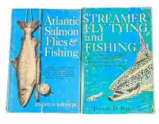 Vintage Fishing Hardcover Books Atlantic Salmon And Fly