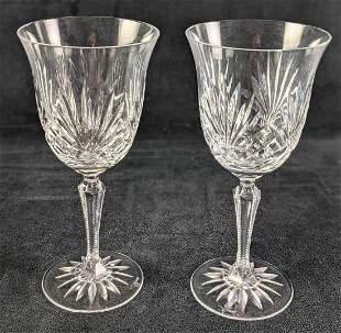 2 Rogaska Crystal Richmond Cut Water Goblets