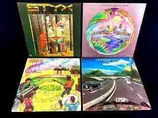 Four 1970's Vinyl Records Todd Rundgren's Utopia,