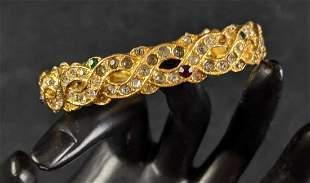 Gold Toned Rhinestone Bracelet