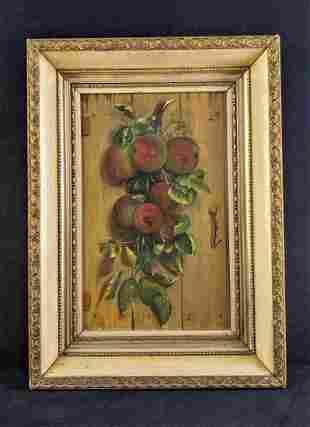 Vintage Painting of Apples