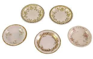 Five Vintage Fine China Mini Bowls And Plates