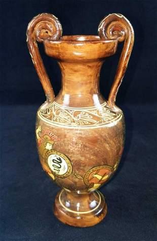 Reproduction Greek Volute Krater Vase Gladiators