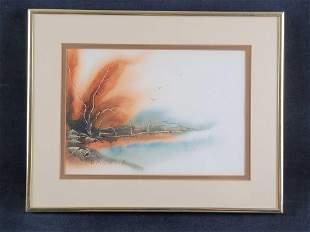 Donna Mollenkopf Watercolor Framed