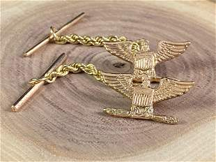 Vintage 14K Gold Lapel Pin ? Tie Tack ? Gold Patriotic