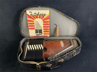 Vintage RBI Chromaharp 15 Chord 36 String Auto Harp w/