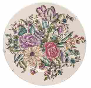 Asian Fine China Floral Collectable Hand Painted Plate