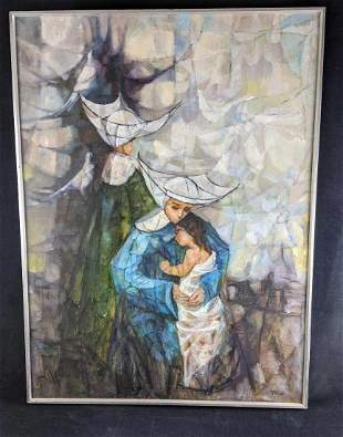 """Oil Painting by Artist Known as Mix """"The Foundling"""""""