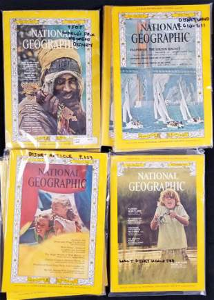 Lot of 8 National Geographic Magazines From the 60s and
