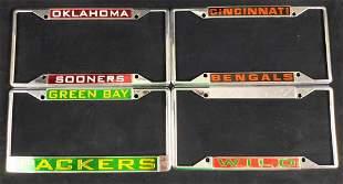 4 Metal License Plate Frames Football Bengals