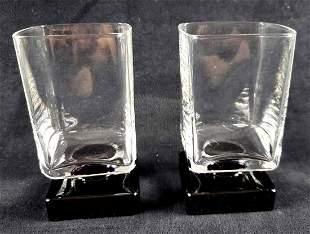 Set of 2 Di Saronno Footed Square Glasses