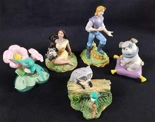 Lot of 5 Walt Disney Pocahontas Meeko John Smith Percy