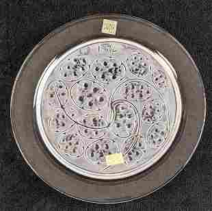 Lalique Crystal 1974 Annual Plate Silver Pennies B