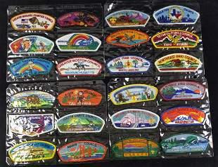 Boy Scout Council Shoulder Badges Lot Of 24 B