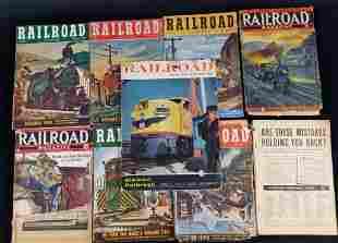 Vintage Railroad Magazine Lot Of Nine