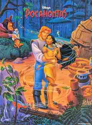 Disney 1995 Disneys Pocahontas Poster